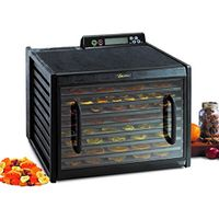 Excalibur 3948CDB 9-Tray Electric Food Dehydrator Clear Door for Viewing Progress Adjustable Thermostat 48-hour Timer Automatic Shut Off 15 Square Feet of Drying Space Made in USA, 9-Tray, Black