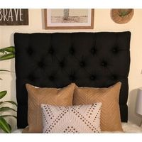 Linen Black Diamond Tufted Twin/Twin XL Headboard