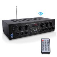 PYLE PTA62BT - Bluetooth Home Audio Amplifier, 6-Ch. Audio Source Stereo Receiver System with FM Radio, MP3/USB/SD/AUX Playback (750 Watt)