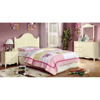 Furniture of America Lissiana 4-piece Twin-size Bedroom Set - Cream