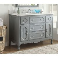 "48"" Benton Collection Knoxville Shabby Chic Gray Bathroom Vanity"