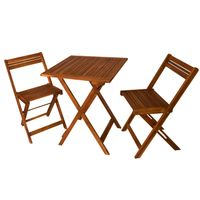 Havenside Home Surfside Outdoor Square Folding Table with Chairs - Blue