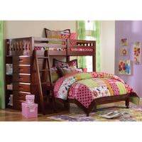 Loft Bed Twin Over Full With Six-drawer Chest and Entertainment Console - Loft Bed Twin/Full, chest and tv console