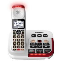 Panasonic - KX-TGM420W DECT 6.0 Expandable Cordless Phone System with Digital Answering System - White