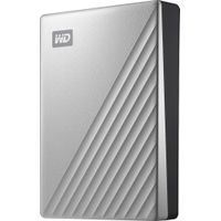 WD - My Passport Ultra for Mac 4TB External USB 3.0 Portable Hard Drive with Hardware Encryption - Silver