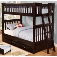 Twin Over Twin Bed in Espresso Finish