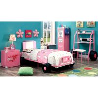 Furniture of America Jamie Metal 5-piece Racing Twin-size Bedroom Set - Pink