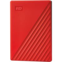WD - My Passport 2TB External USB 3.0 Portable Hard Drive with Hardware Encryption (Latest Model) - Red