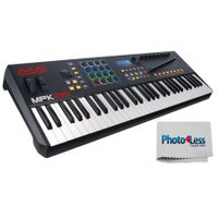 Akai Professional MPK261 | 61-Key USB MIDI Keyboard & Drum Pad Controller with LCD Screen (16 Pads/8 Knobs/8 Faders), VIP Software Download Included + Bonus Photo4less Cleaning Cloth!