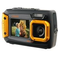 "Coleman Duo2 2V9WP Rugged Dual Screen Waterproof Camera, 20MP, 4x Digital Zoom, 2.7"" Back/1.8"" Front LCD, Waterproof to 10', Dust/Freeze Proof, Orange"