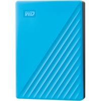 WD - My Passport 4TB External USB 3.0 Portable Hard Drive with Hardware Encryption (Latest Model) - Blue