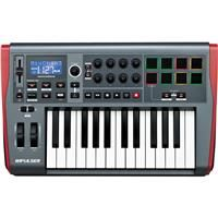 Novation Impulse 25 USB MIDI Controller Keyboard with Automap 4 Control Software, 8x Rotary Encoders and Single Fader, 8x Backlit Trigger Pads