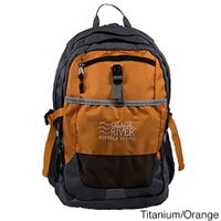 Osage River Osceola Series Daypack Nylon Backpack - Titanium/Orange
