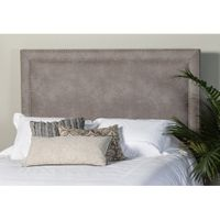 Brookeside Nailhead Trim King Headboard - Premier Dove