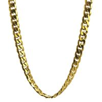 Gold Ion-plated Stainless Steel 10-mm Curb Chain Jewelry Set - 10mm Gold IP Curb Chain Box Set