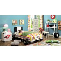 Furniture of America Jamie Metal 5-piece Racing Twin-size Bedroom Set - White