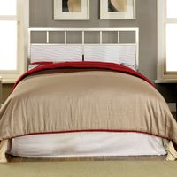 Furniture of America Hypno Metallic Full-to-Queen Adjustable Headboard - White - Full to Queen