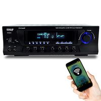 Pyle Hybrid Amplifier Receiver - Home Theater Amp Stereo, Bluetooth Streaming, MP3/USB/SD Readers, AM/FM Radio, 300 Watt (PT272AUBT)
