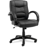 Great Alera Strada Leather Mid Back Swivel/ Tilt Chair