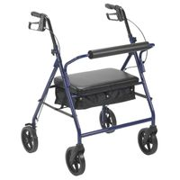 "Bariatric Rollator 8"" Wheels Blue Drive Medical"