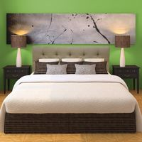 Diamond Tufted Carson Desert Headboard - Twin