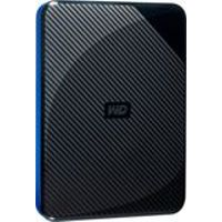 WD - Gaming Drive 2TB External USB 3.0 Portable Hard Drive - Black Top With Blue Bottom
