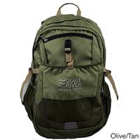 Osage River Osceola Series Daypack Nylon Backpack - Olive/Tan