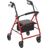 "Rollator 6"" Wheels Red Drive Medical"
