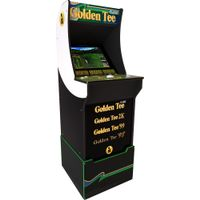 Arcade1Up - Golden Tee Arcade Cabinet with Riser - Black