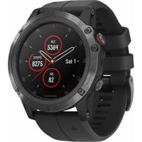 Garmin - Fenix 5X Plus Sapphire GPS Heart Rate Monitor Watch - Black