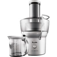 Breville - Juice Fountain Compact Electric Juicer - BJE200XL - Silver
