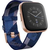 Fitbit - Versa 2 Special Edition - Copper Rose with Navy Woven Jacquard Band