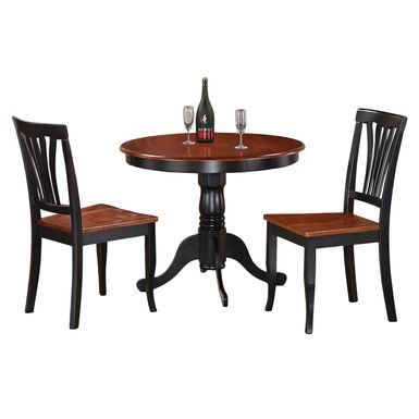 Rent To Own 3 Piece Kitchen Nook Dining Set Small Kitchen Table And 2  Kitchen Chairs   Black And Cherry   FlexShopper